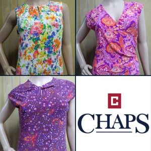 NWT Chaps Bundle Lot Tops Short Sleeve Petite XS